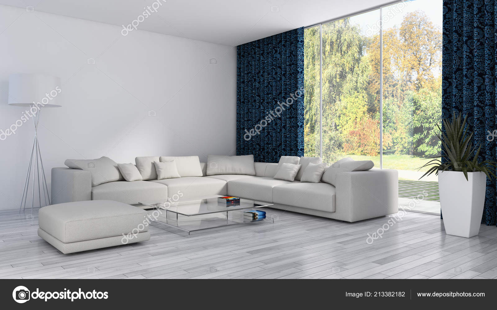 Rendering Soggiorni Moderni.Grande Lusso Moderni Interni Luminosi Appartamento Soggiorno