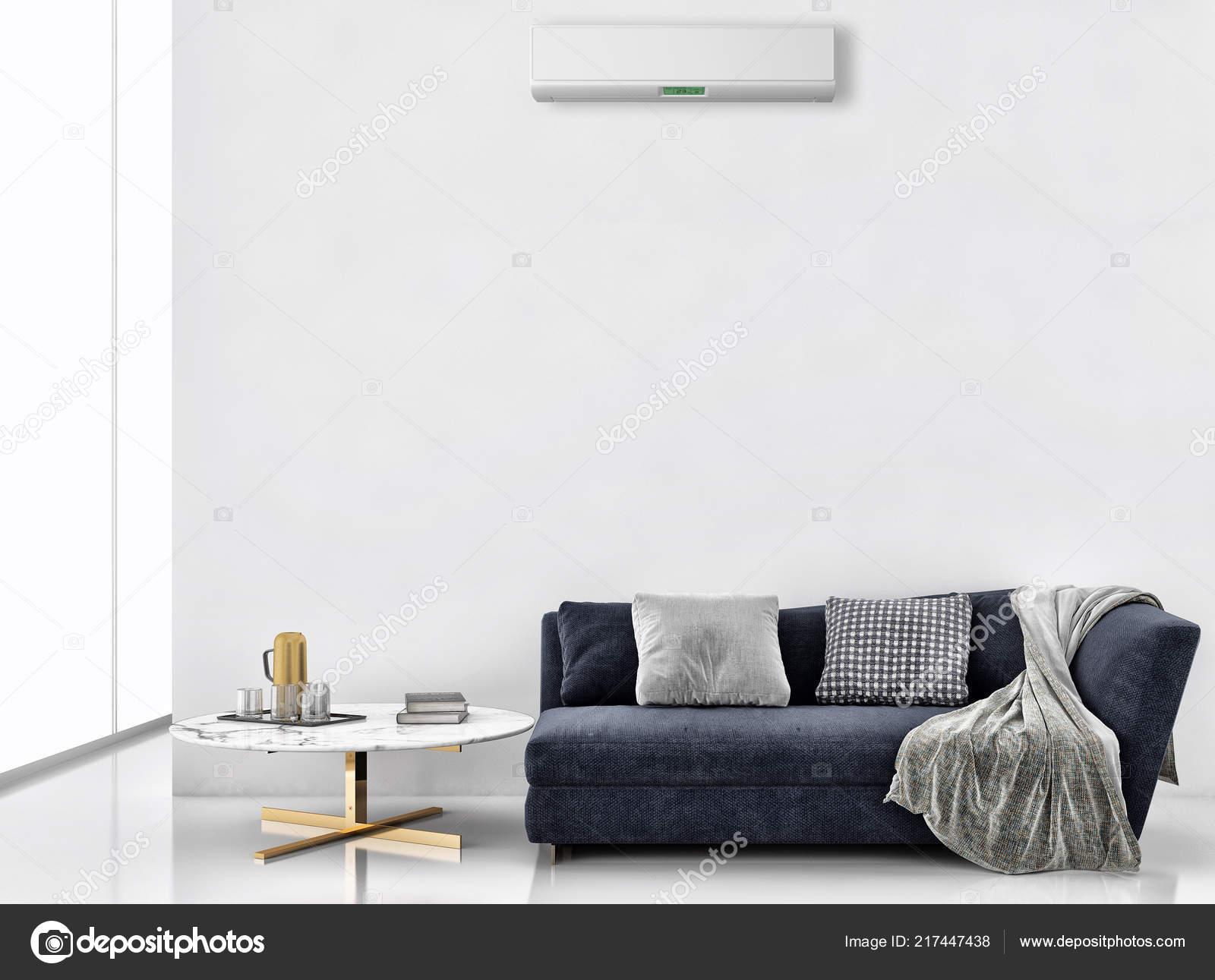 Modern interieur appartement met airconditioning afstandsbediening