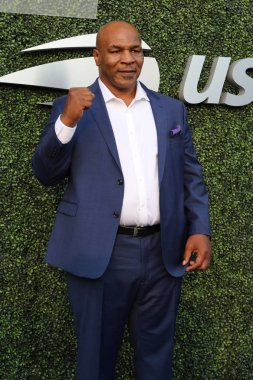 NEW YORK - AUGUST 27, 2018: Former boxing champion Mike Tyson attends 2018 US Open opening ceremony at USTA Billie Jean King National Tennis Center in New York