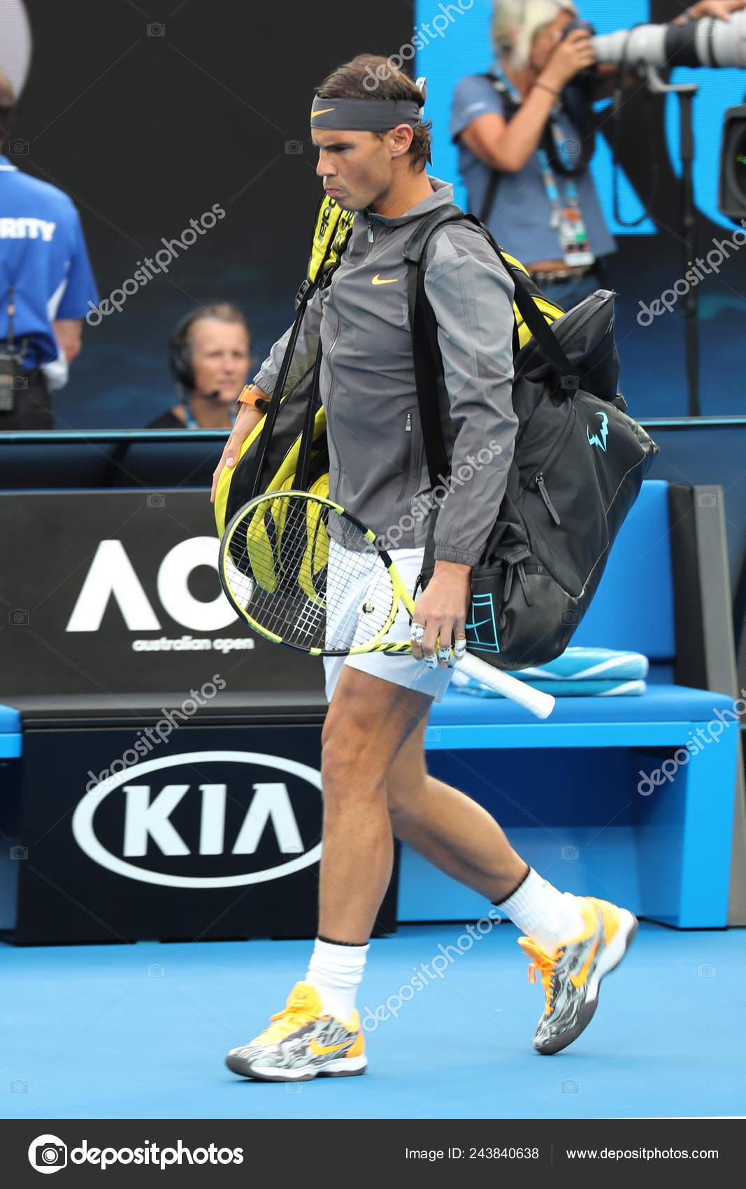 Melbourne Australia January 2019 2019 Australian Open Finalist Rafael Nadal Stock Editorial Photo C Zhukovsky 243840638
