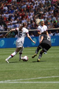 HARRISON, NJ - MAY 26, 2019: U.S. Women's National Soccer Team midfielder Rose Lavelle #16 in action during friendly game against Mexico as preparation for 2019 Women's World Cup in Harrison, NJ