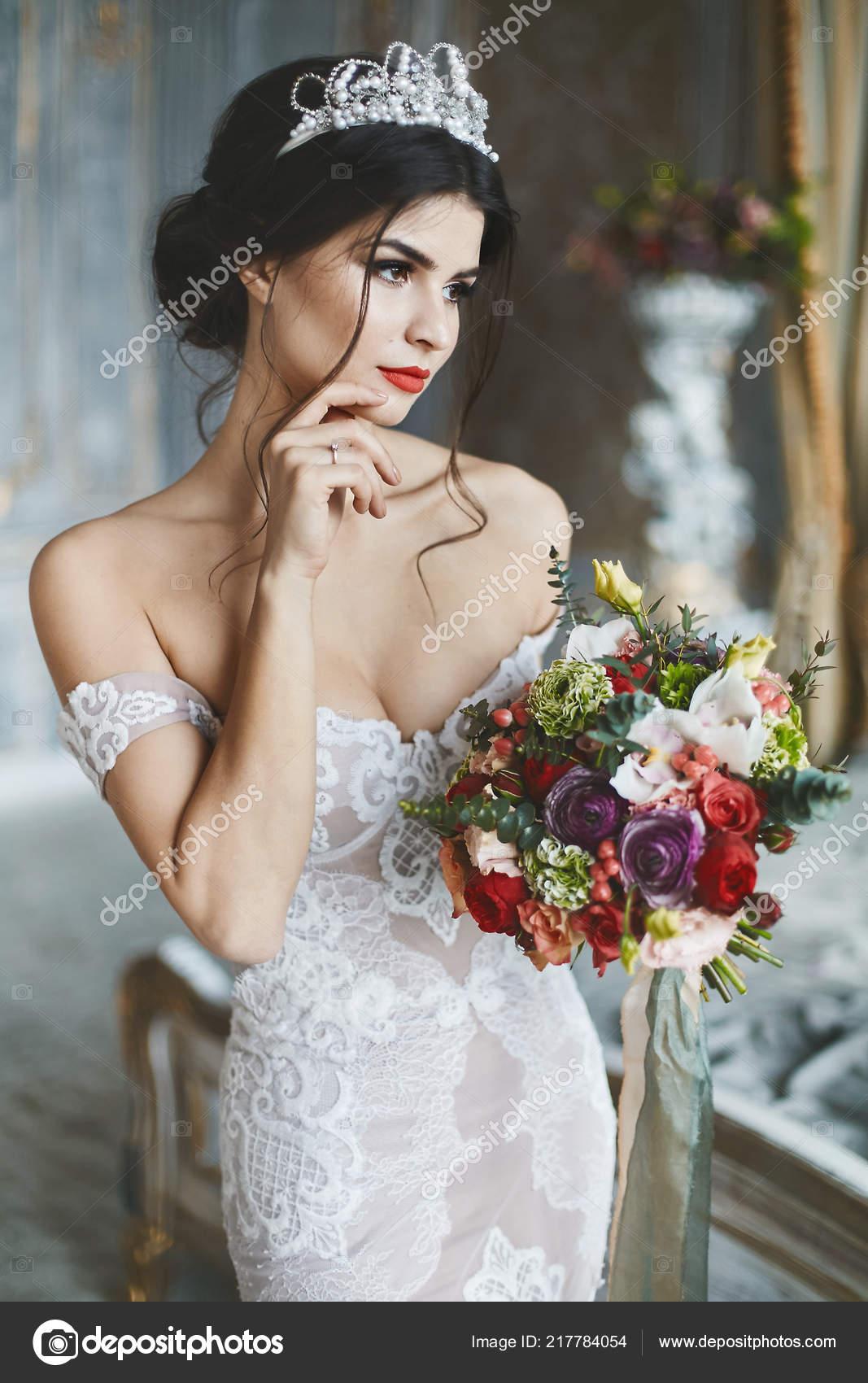 Brunette Model Wedding Sexy And Beautiful Brunette Model Girl In