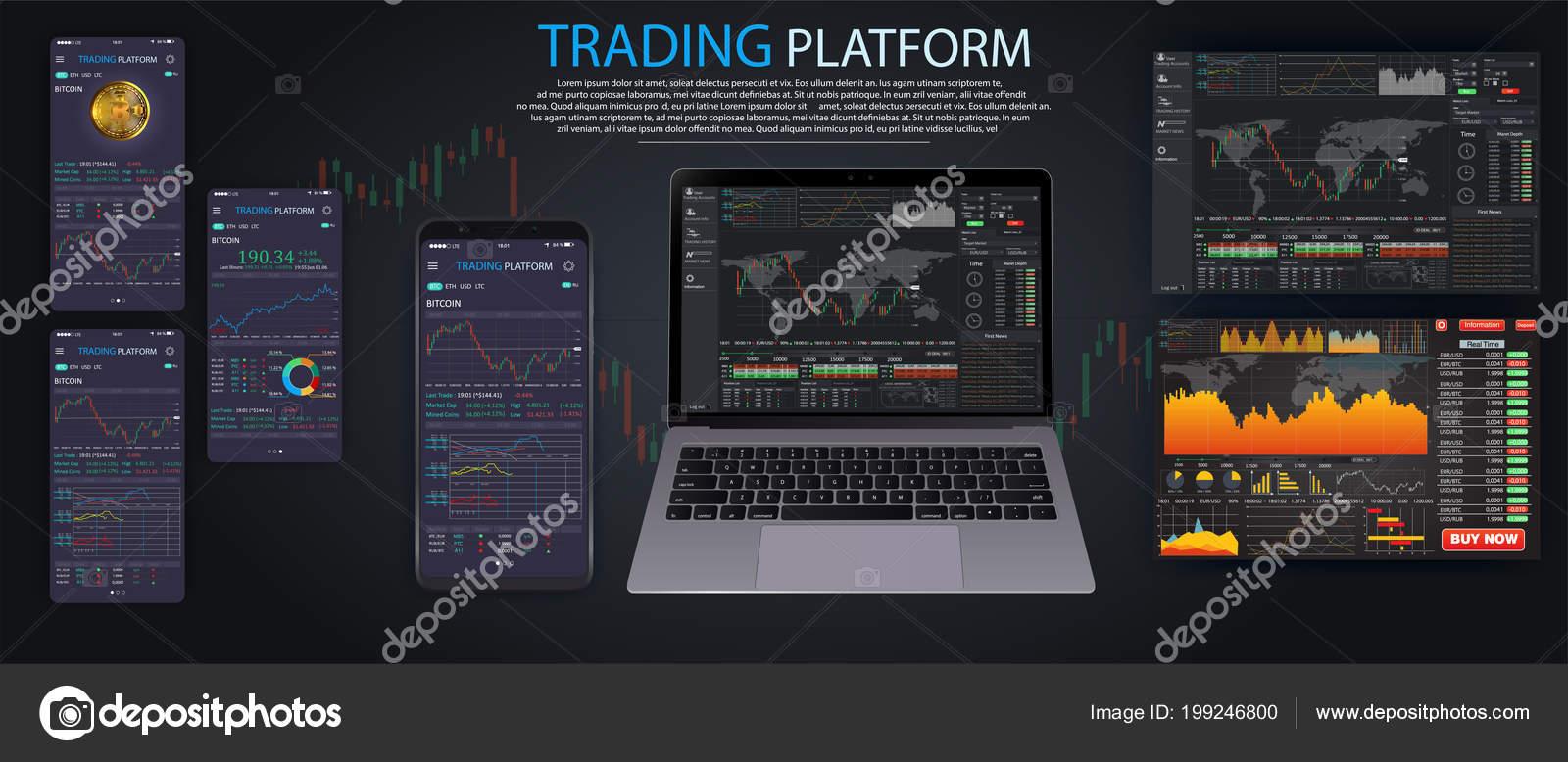 Plataforma de demostración de comercio binario