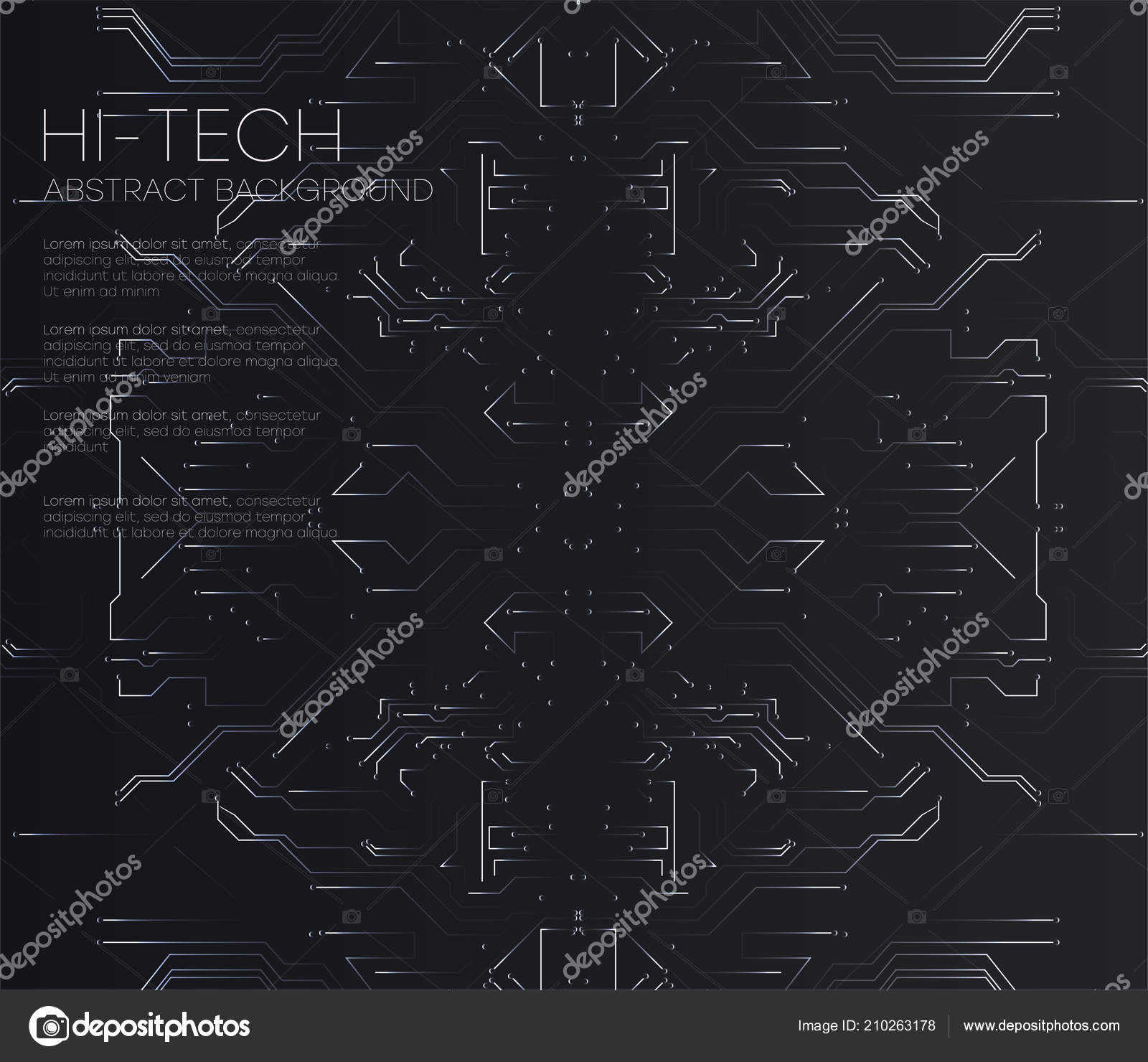 vector abstract futuristic circuit board illustration high computer