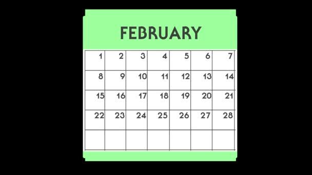 2D animated Calendar - March graphic