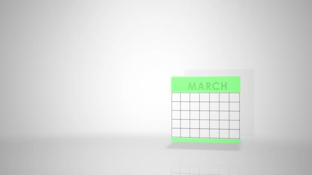 Info grafika pro data pro měsíce v roce - březen