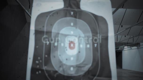 Gun Firing Range Typography -Gun Control