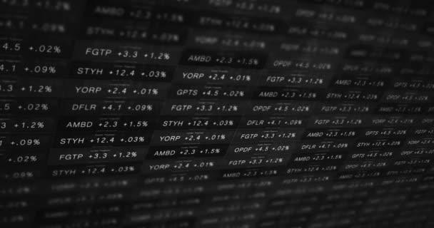 Futuristické černá a bílá burzovní telegraf v dobré ekonomice