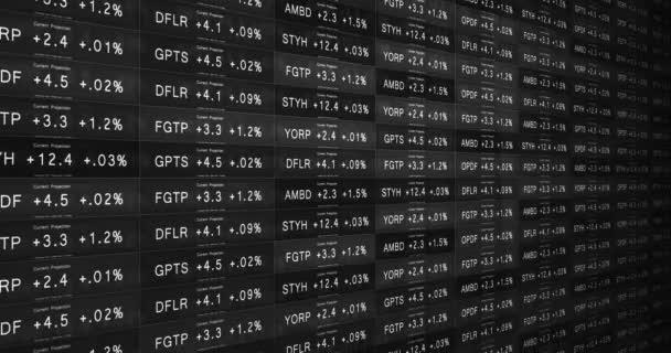 Futuristické černé a bílé burzovní telegraf v dobré ekonomice Alt