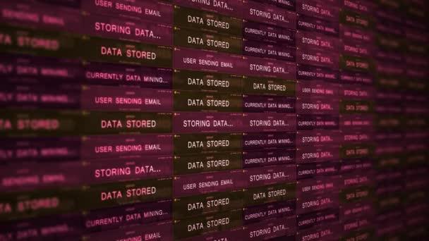 futuristisches Konzept der digitalen Servertechnologie - ominöses Data-Mining-Konzept v1