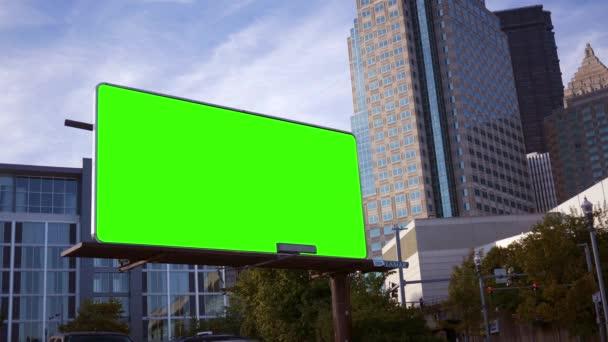 Rohu pin marketing reklama billboard v centru města oblasti