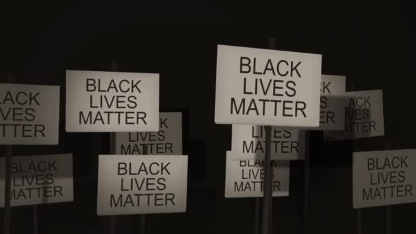 Waving signs of protest or awareness series - Black Lives Matter
