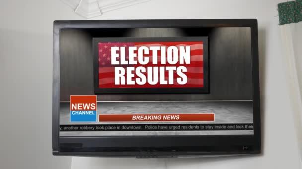 Novinky vysílání názvu série - volební výsledky grafického Alt