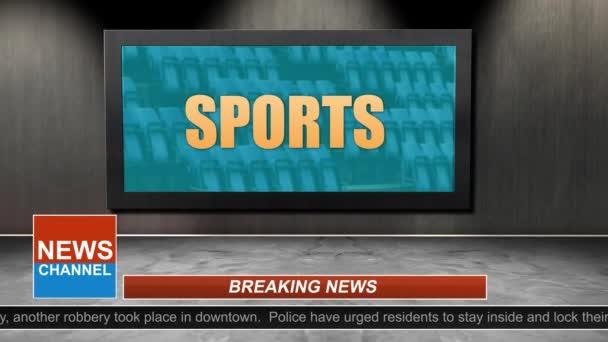 Novinky vysílání názvu série - sportovní grafiku