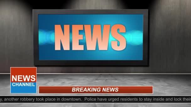 Novinky vysílání názvu série - Grafika News