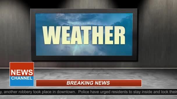 Novinky vysílání názvu série - předpovědí počasí