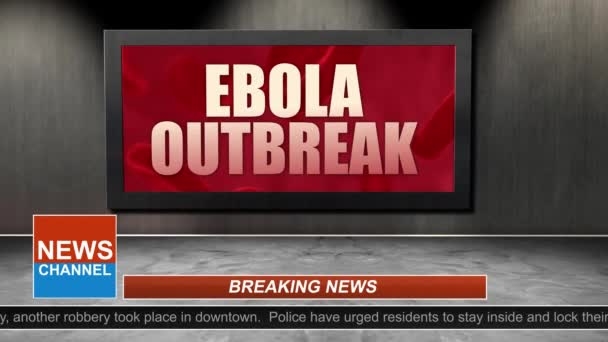 News Broadcast Title Series - Ebola Outbreak Graphic