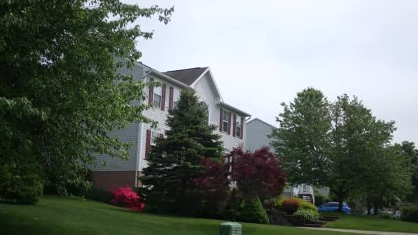 Establishing shot of planned neighborhood house