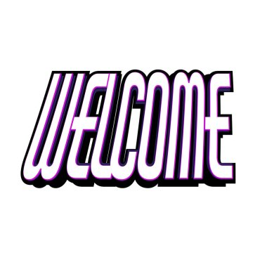 Welcome. Text for the title. Vector illustration for stock