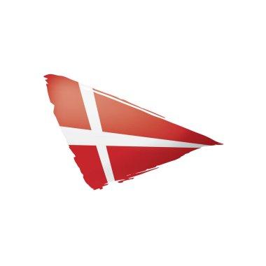 Denmark flag, vector illustration on a white background