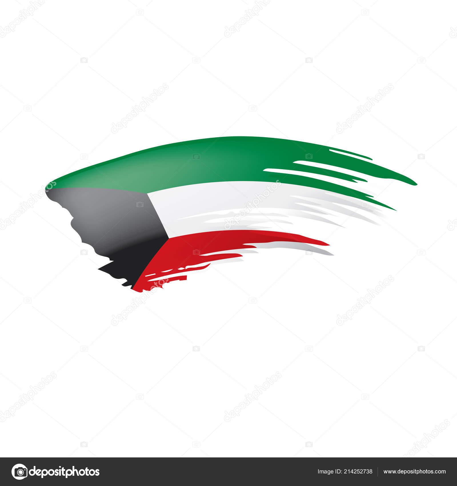 Kuwait Flag Vector Illustration On A White Background Stock Vector C Artbutenkov 214252738