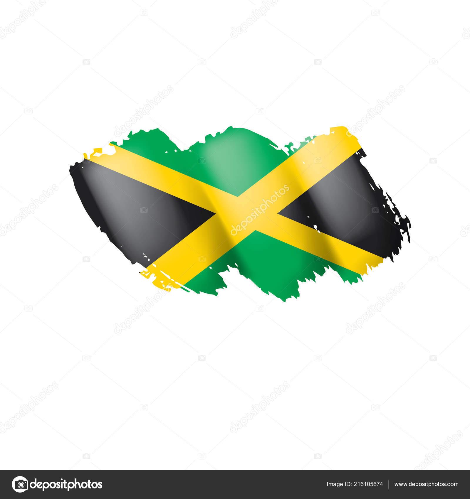 67ca314a9fcb18 Bandiera della Giamaica, illustrazione vettoriale su sfondo bianco —  Vettoriali di artbutenkov