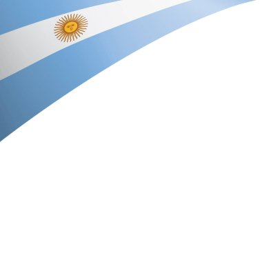 Argentina flag, vector illustration on a white background