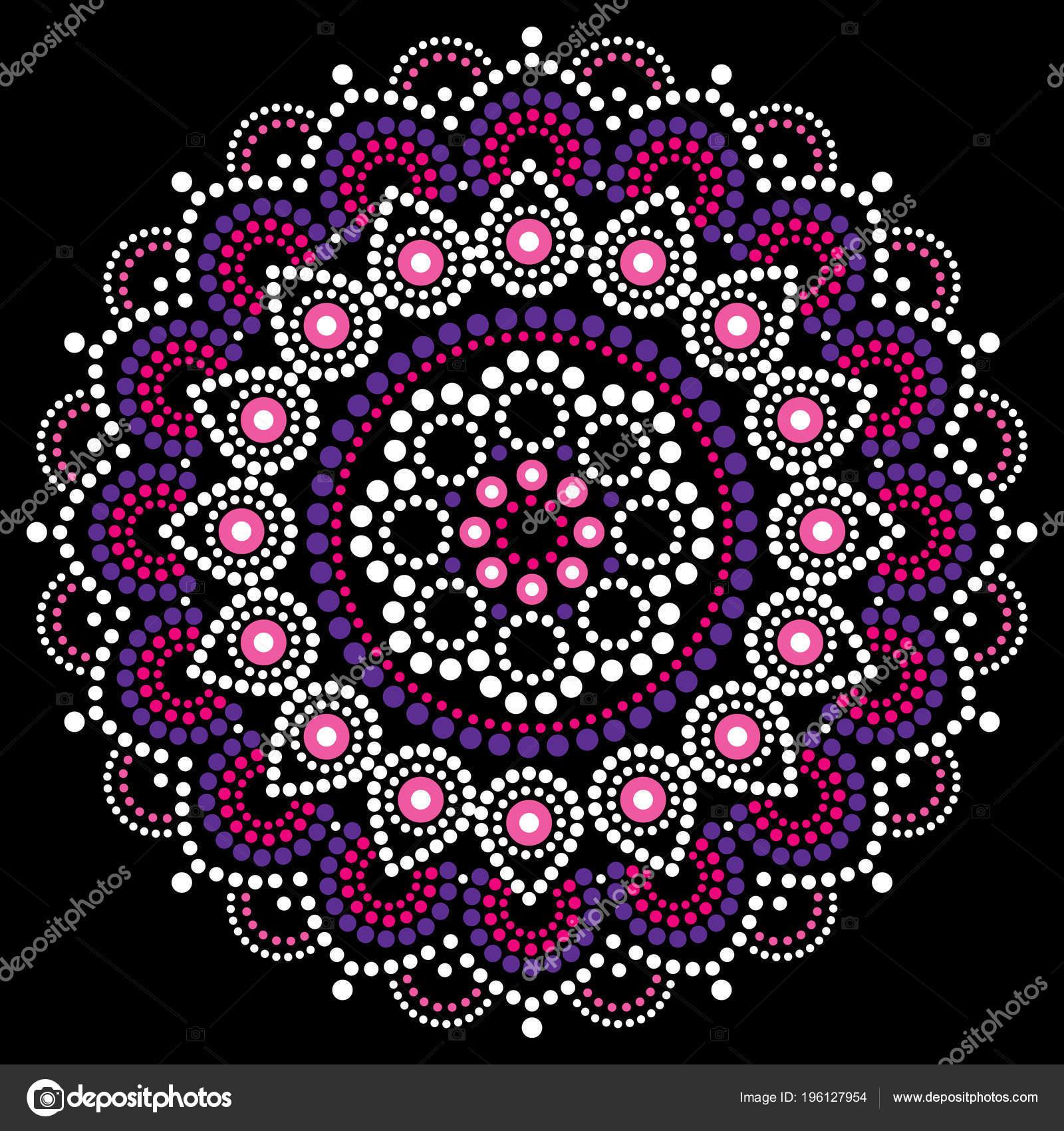 Mandala dots   Mandala Dot Painting Vector Design Aboriginal