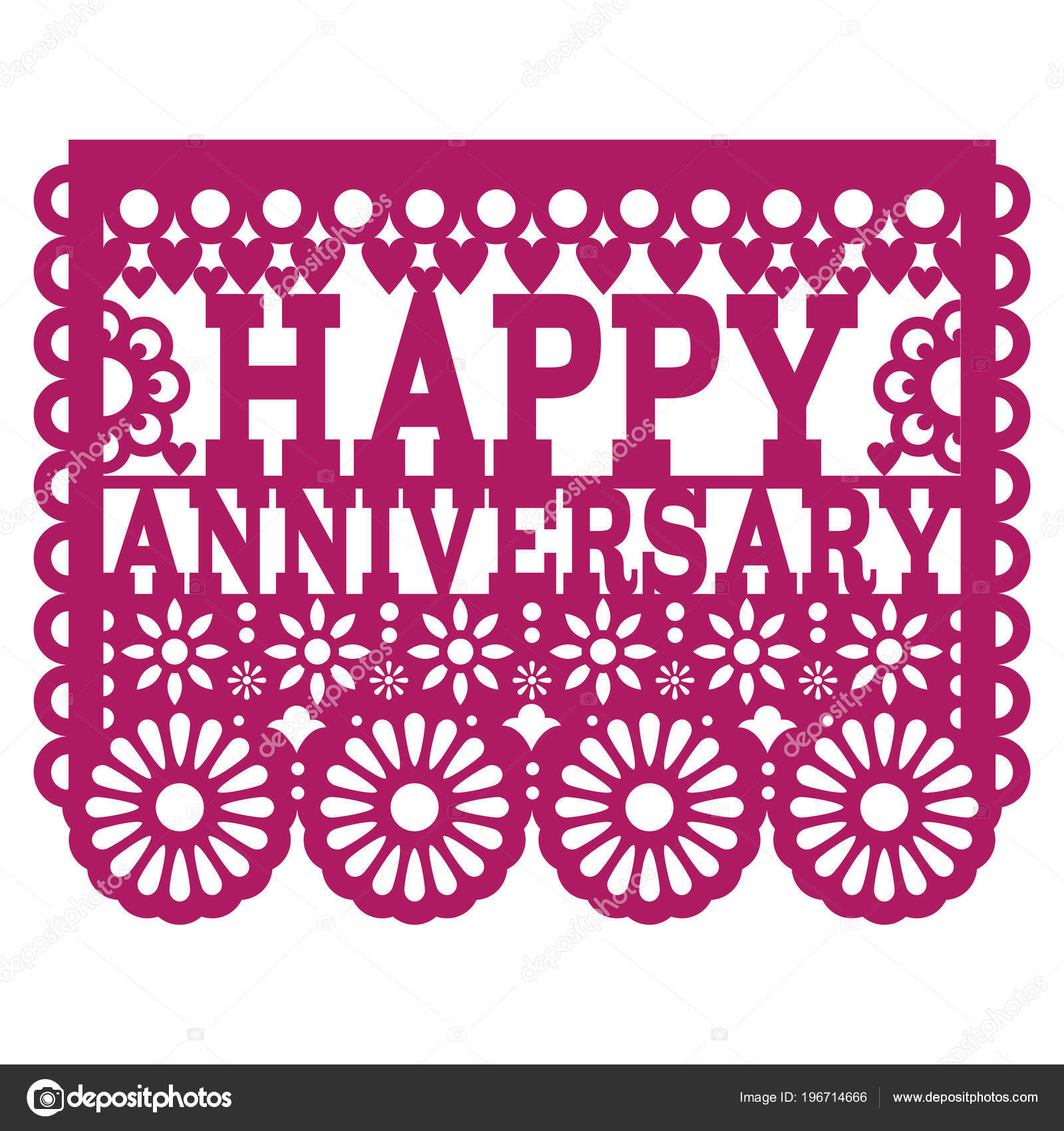 Happy anniversary papel picado vector design purple greeting card happy anniversary papel picado vector design purple greeting card mexican stock vector m4hsunfo
