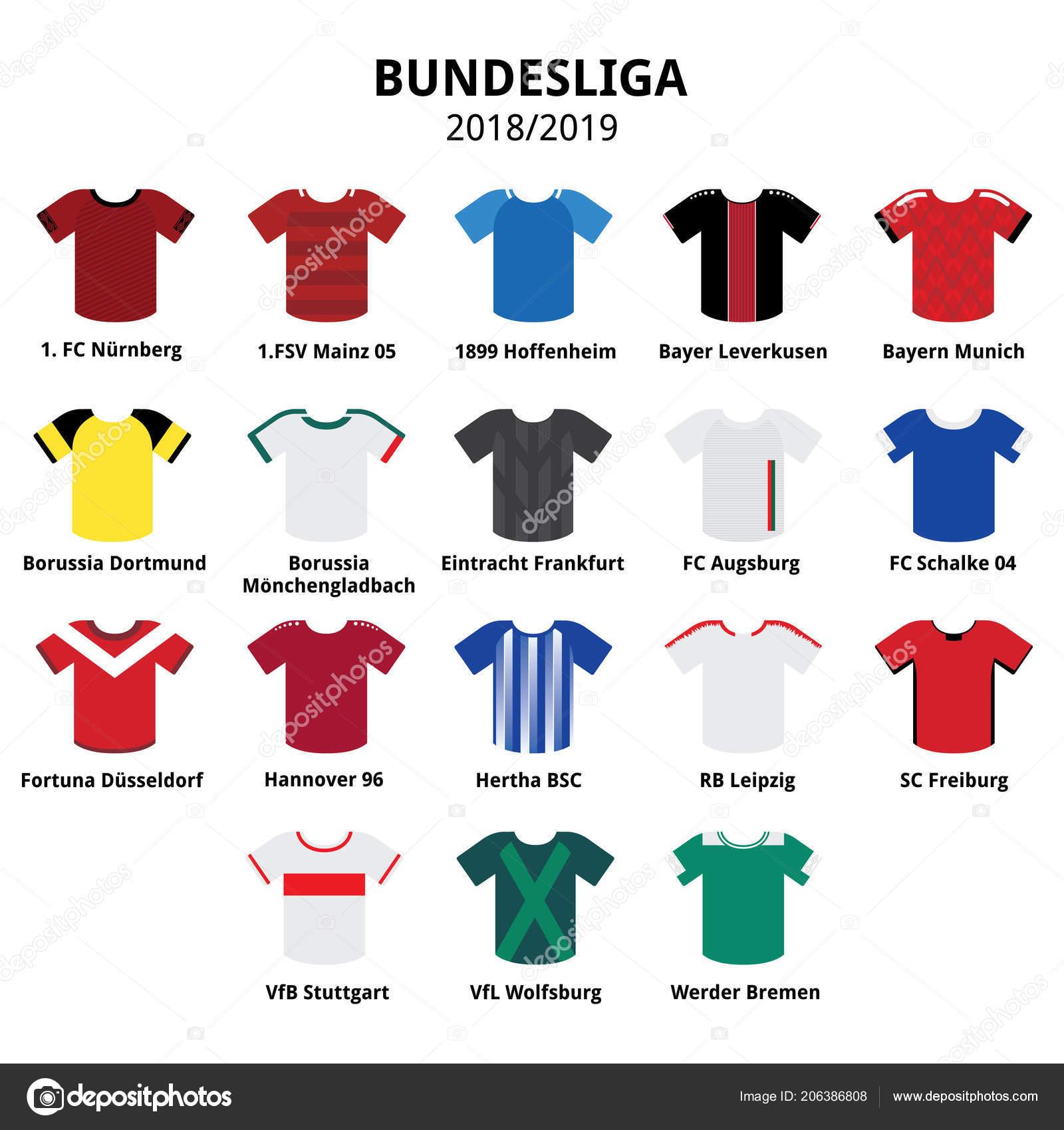 Bundesliga Trikots Kit 2018 2019 Deutsche Fussball Liga