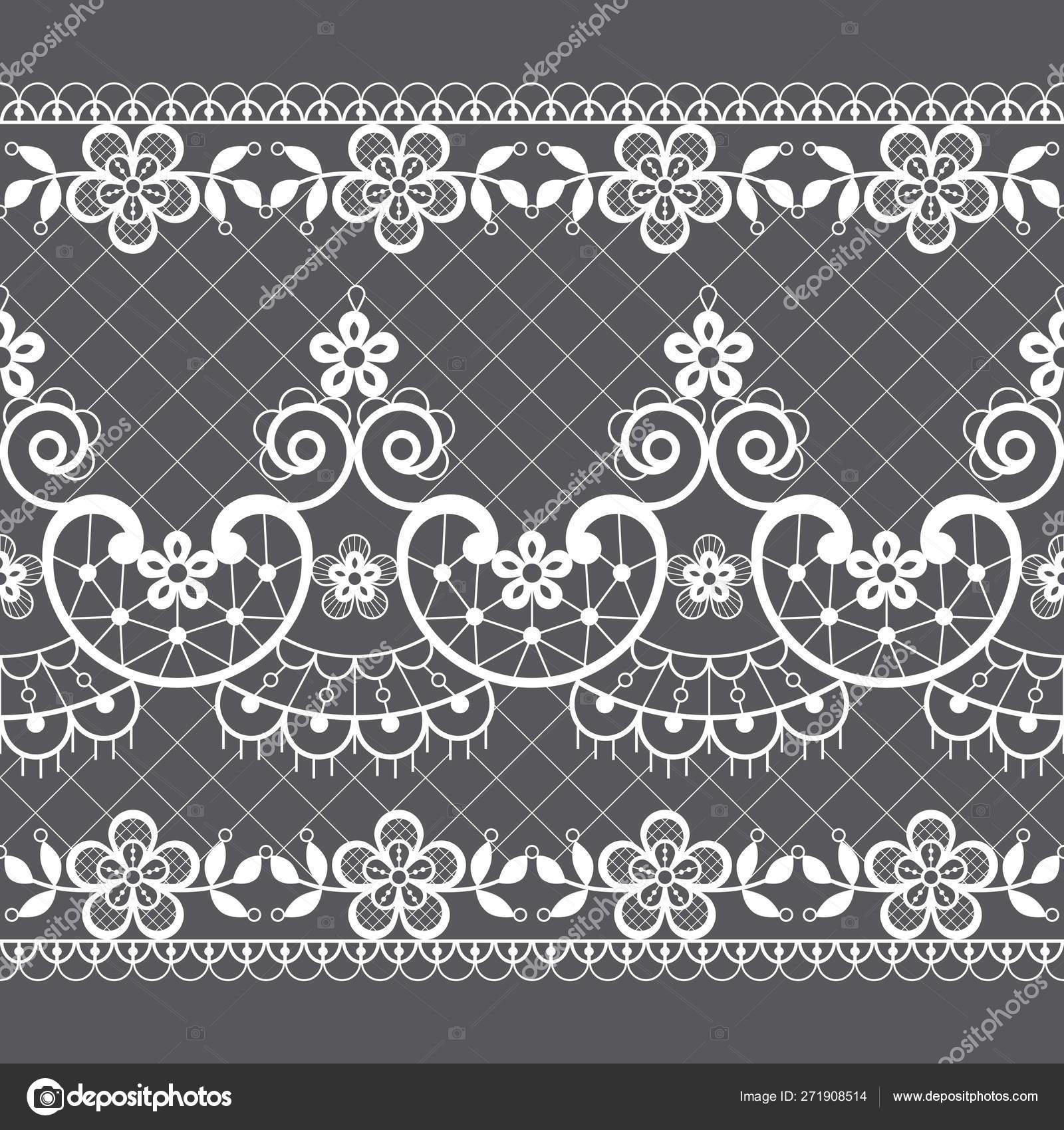 Seamless Lace Vector Pattern Retro Weddin Style Ornamental