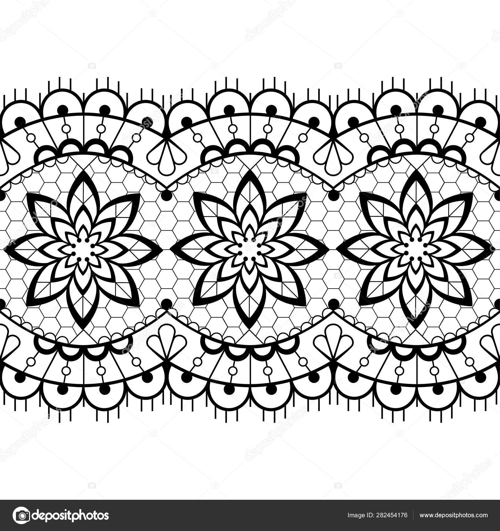 White Lace Vector Seamless Pattern. Floral Pattern. Stock Vector -  Illustration of lace, pattern: 108033955   1700x1600