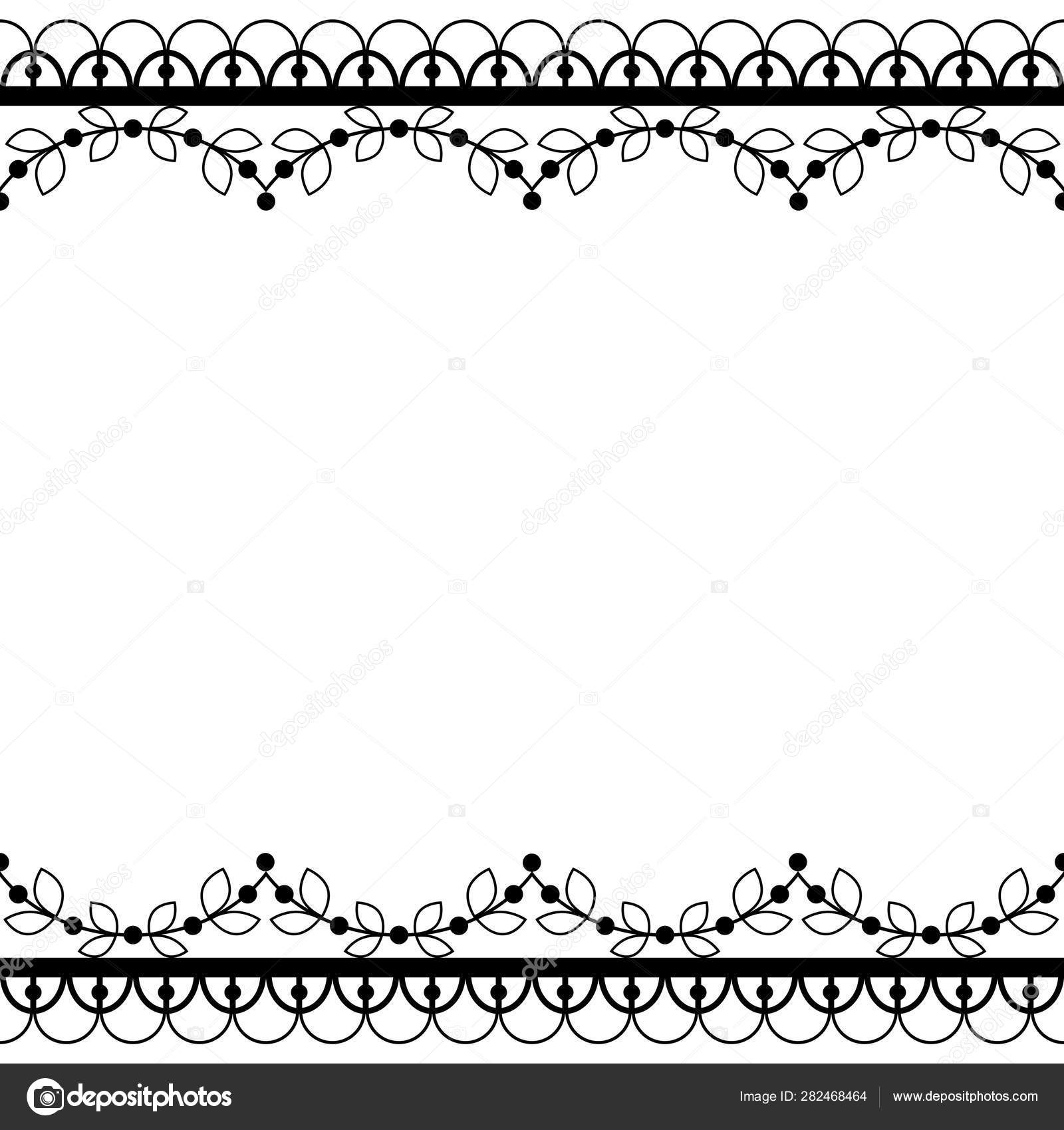 Retro Lace Pattern Vector Greeting Card Wedding Birthday