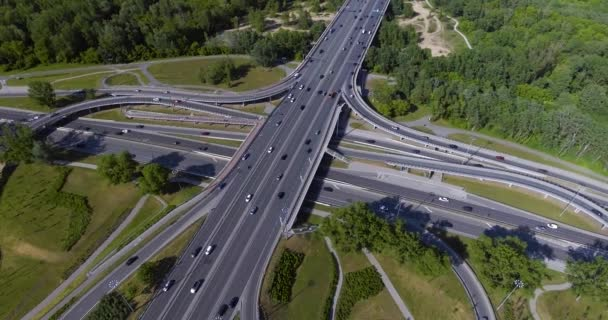 Aerial View Of A Highway Intersection In Warsaw