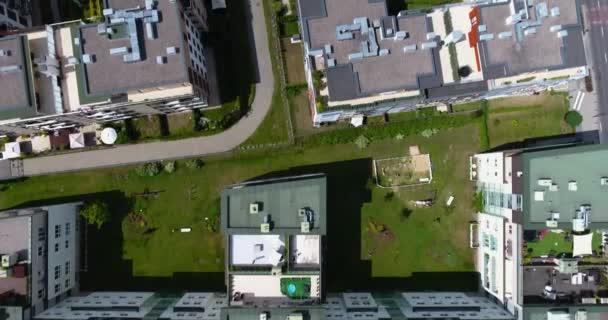Varšava, Polsko: Letecký pohled z obytné čtvrti