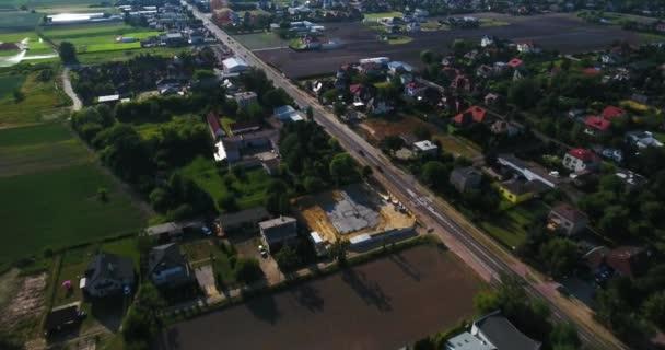 Letecký pohled na rezidenční čtvrť
