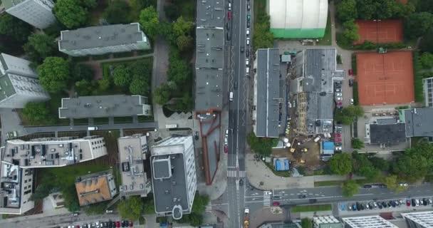 Vertikale Luftaufnahme von Wohnungen: Warschau, Polen