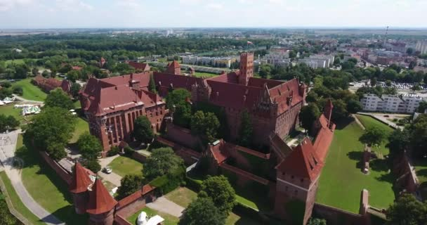 Aerial View Of Gothic Cathedral Castle