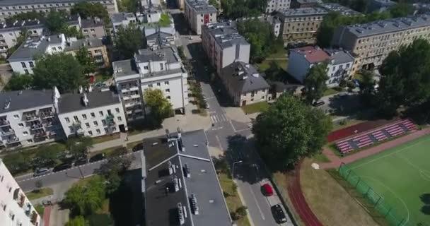 Letecké filmové průnik v bytě komplexu: Varšava, Polsko