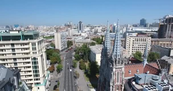 Antenne: Fliegen weg von St. Nicholas römisch-katholische Kathedrale: Kiew, Ukraine