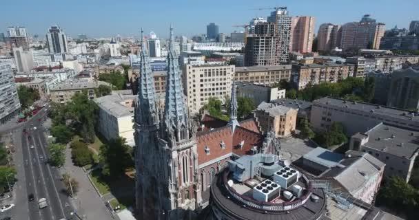Letecký pohled na St. Nicholas římskokatolická katedrála: Kyjev, Ukrajina