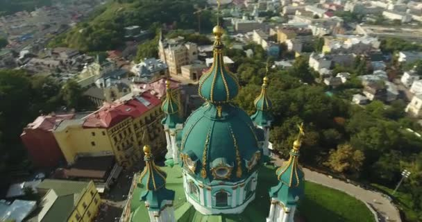 Dynamic Shot Of The Saint Andrews Church In Baroque Style : Kiev, Ukraine