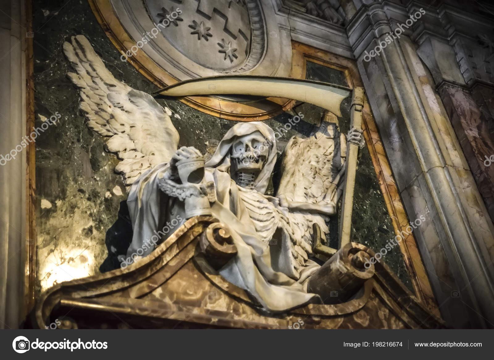 Death Angel Sculpture Basilica San Pietro Vincoli Stock Photo