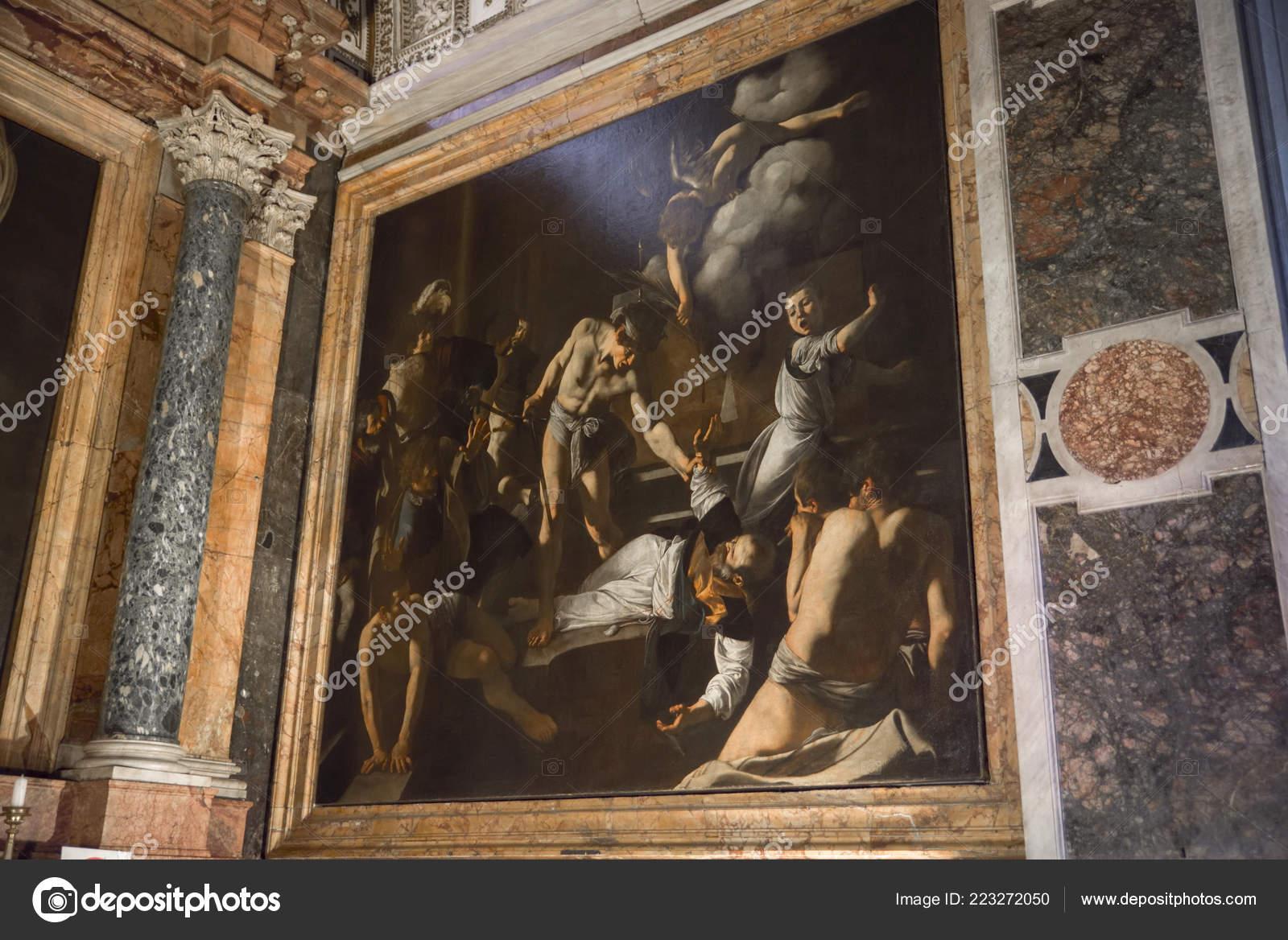 Caravaggio Martirio San Mateo Iglesia San Luis Los Franceses Roma