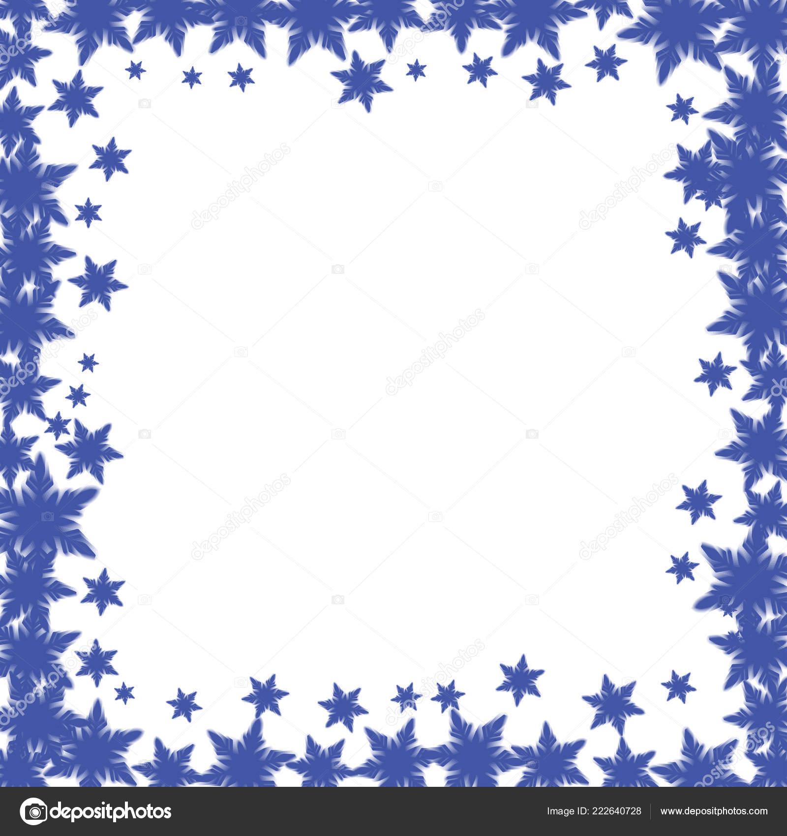 christmas border design snowflakes stock vector robisklp 222640728