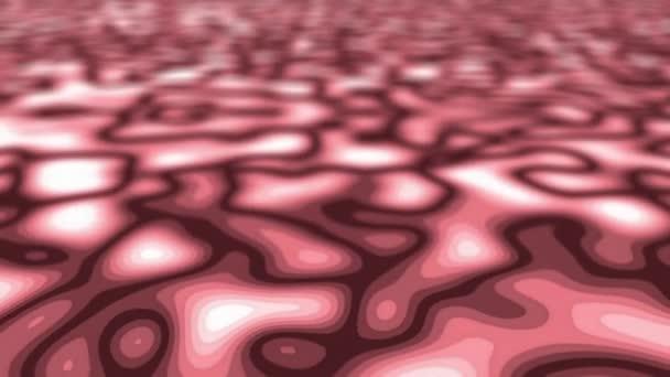 Bezešvé abstraktní červené tekuté video pozadí