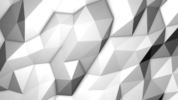 Looped alacsony poli háromszög háttér. Kristályok Polygonal Seamless Loop Motion grafika.