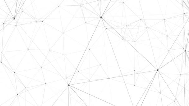 Smyčka abstraktní digitální připojení pozadí černé na bílém pozadí
