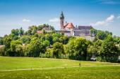 Fotografie Berühmte Andechs Abbey im Sommer, Landkreis Starnberg, Oberbayern, Deutschland