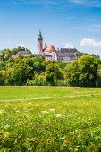 Fotografie Famous Andechs Abbey in summer, district of Starnberg, Upper Bavaria, USA